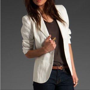 Banana Republic White linen blazer